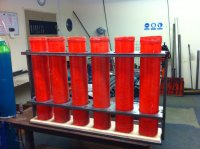 UK Built Steel Mortar Racks   Fireworks Forum
